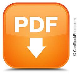 PDF download icon special orange square button
