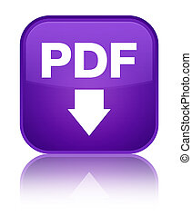 PDF download icon special purple square button