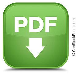 PDF download icon special soft green square button