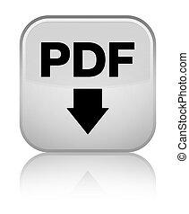 PDF download icon special white square button