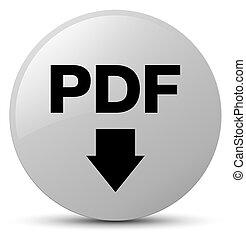 PDF download icon white round button