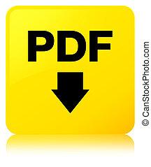 PDF download icon yellow square button
