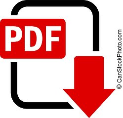 Pdf download vector icon isolated on white background