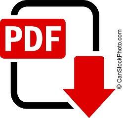 Pdf download vector icon