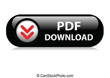 PDF Download web button - PDF black download web button.