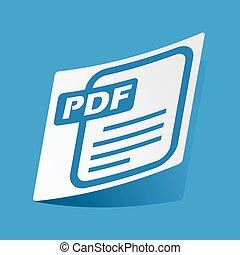 pdf, fichier, autocollant