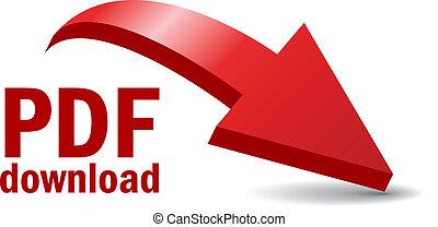 Pdf file download illustration