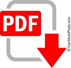 Pdf file download vector icon