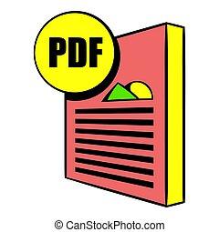 PDF file icon cartoon