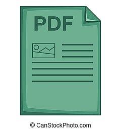 PDF file icon, cartoon style - PDF file icon. Cartoon ...