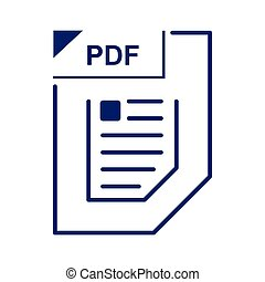 PDF file icon, cartoon style
