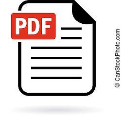 Pdf file icon isolated on white background