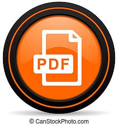 pdf file orange icon
