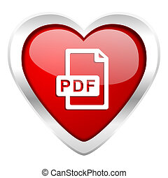 pdf file valentine icon