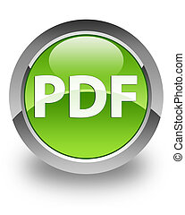 PDF icon on glossy green round button