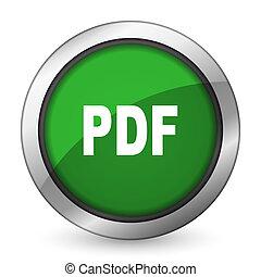 pdf, grün, ikone