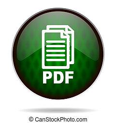 pdf, grün, internet abbild
