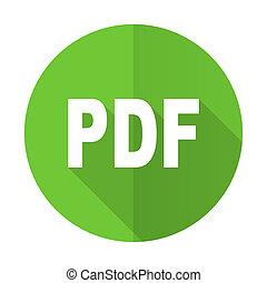 pdf green flat icon