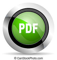 pdf icon, green button
