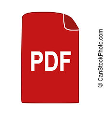 PDF icon. - PDF icon - vector image.