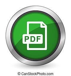 pdf, ikone, datei, grün
