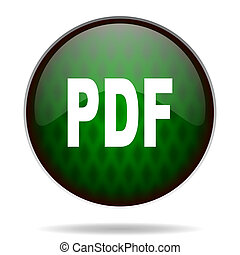 pdf, ikone, internet, grün