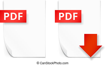 PDF paper sheet icons - PDF icons, empty paper sheet and ...
