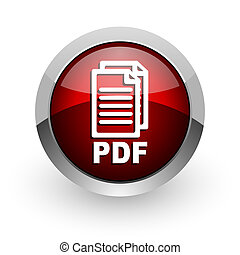 pdf red circle web glossy icon