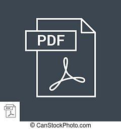 PDF Vector Icon. PDF File Icon. Thin Line Vector ...