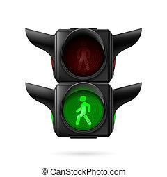 peão, semáforo