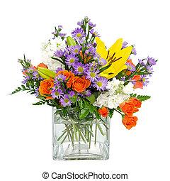 peça central, flor, arranjo