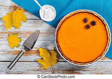 pečení, lahodný, straka, pomeranč, bystrý, domácí, jídlo, nechráněný, dýně