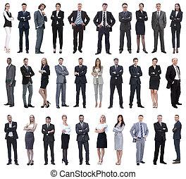 pełny, colection, długość, ludzie