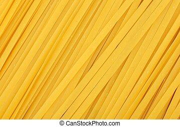 pełny, zasuszony, tło, pasta, uncooked, linguine