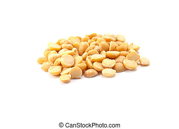 pea is isolated on a white background