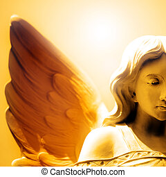 Peace and Hope of Angel Love - Angel Face and Wing with ...