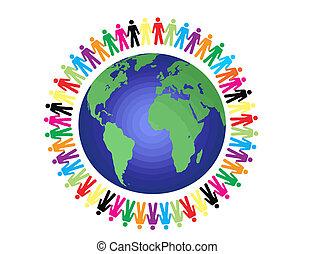 peace around the world, vector illustration
