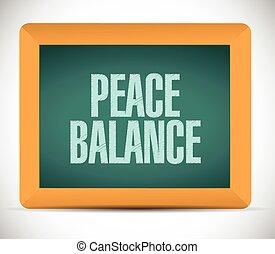 peace balance sign board. illustration