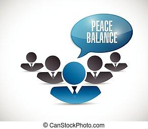 peace balance teamwork illustration