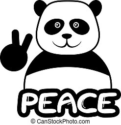 Peace bear - Creative design of beace bear
