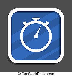 Peace blue flat design square web icon