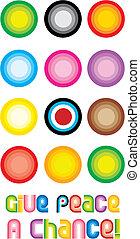 Peace Circle Symbol - Give peace a chance