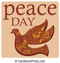peace day and bird