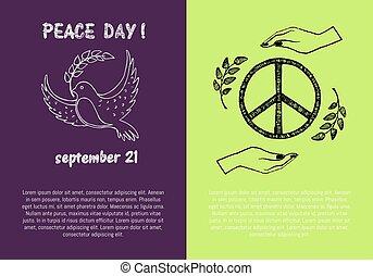 Peace Day September 21 on Vector Illustration