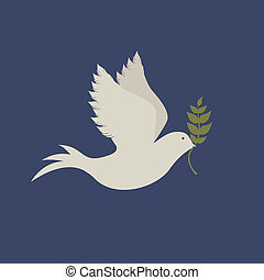 peace design over blue background vector illustration