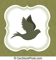 Peace design over green background, vector illustration