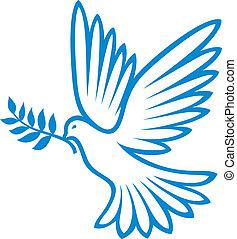 (peace, dove), béke, galamb