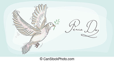Peace dove symbol texture background EPS10 file. - Hand...