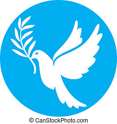 (peace, dove), vrede, duif