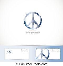 Peace flower power sign symbol logo